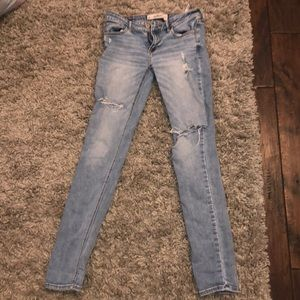 Hollister light wash ripped jeans